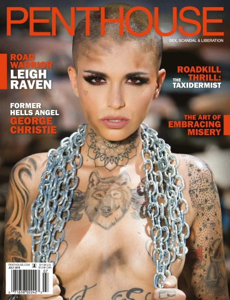 Penthouse July 2018 Pet of the month Leigh Raven